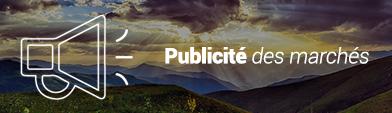 Publicité des marchés sur le site national de l'ADEME